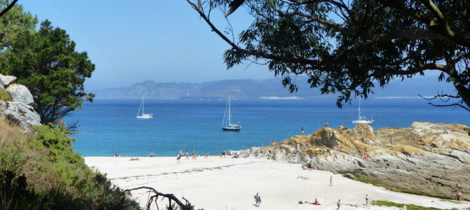Íslas Cies, an authentic Caribbean beach, in Spanje