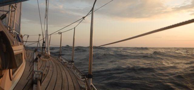 eerste mijlen op de Stille Oceaan